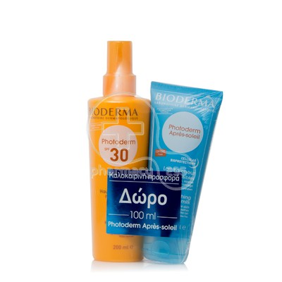 BIODERMA - PROMO PACK PHOTODERM Spray SPF30 (200ml) ΜΕ ΔΩΡΟ Apres Soleil (100ml)