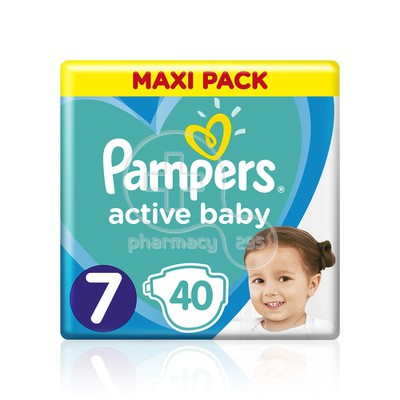 PAMPERS - MAXI PACK Active Baby Νο7 (15+kg) - 40τεμ.
