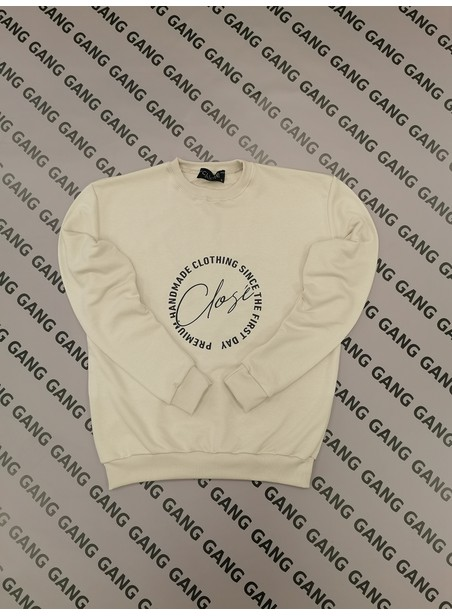 CLVSE SOCIETY BEIGE RETRO CREW NECK