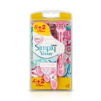 GILLETTE - VENUS Simply Venus Simply Smooth - 6τεμ.