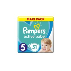 Pampers Active Baby Diapers Size 5 (11-16kg) 51 Diapers
