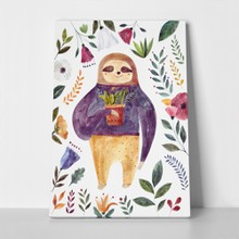 Illustration cute sloth 1051801619 a