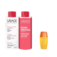 Uriage Πακέτο Bariesun Ultra-Light Fluid SPF50+ - Αντιηλιακή Προσώπου Χωρίς Άρωμα, 30ml + Uriage Thermal Micellar Water Sensitive Skin, 2x500ml
