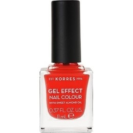 Korres Gel Effect Nail Colour No.19 Watermelon Βερνίκι Νυχιών, 11ml