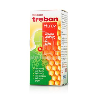 UNI-PHARMA - Φυτικό Σιρόπι Trebon Honey - 100ml