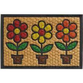 Πατάκι Εισόδου (40x60) Boucara Decor 092 Flowers Pots Sdim