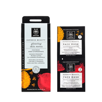 Apivita Express Beauty Face Mask Honey & Pomegranate 2x8ml - Μάσκα Προσώπου με Μέλι & Ρόδι