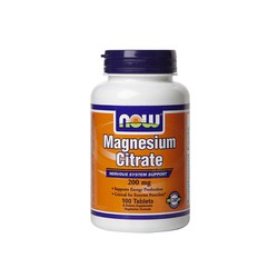 Now Magnesium Citrate 200mg, 100 Tablets