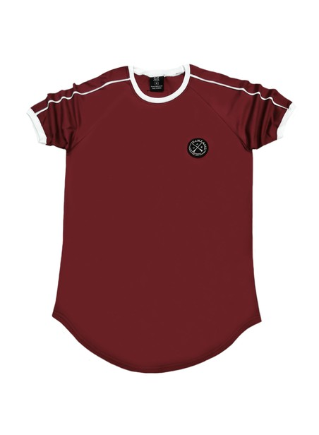 VINYL ART CLOTHING BORDEAUX 2 STRIPE T-SHIRT