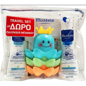MUSTELA Travel Set με Cleansing gel 100ml & Hydra