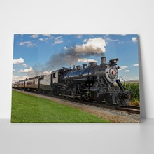 Vintage black steam train 2 127982369 a