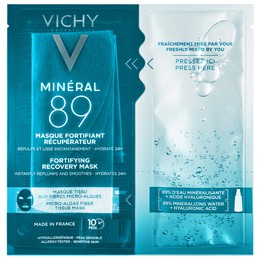 Vichy Mineral 89 Fortifying Instant Recovery Mask, Μάσκα Ενδυνάμωσης & Επανόρθωσης Με Ιαματικό Μεταλλικό Νερό & Υαλουρονικό Οξύ, 29g