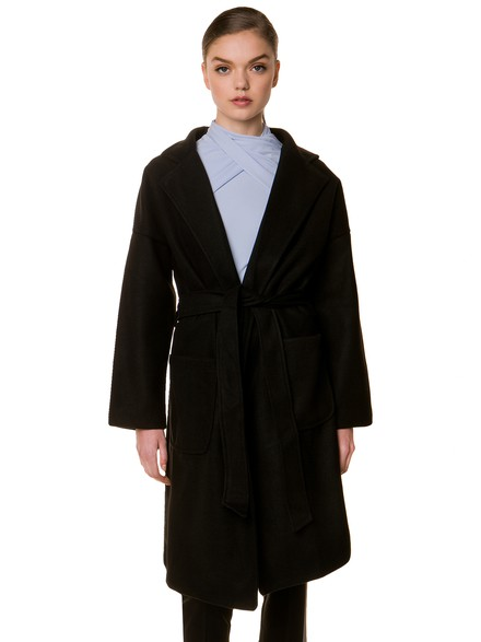 Wrap coat with belt