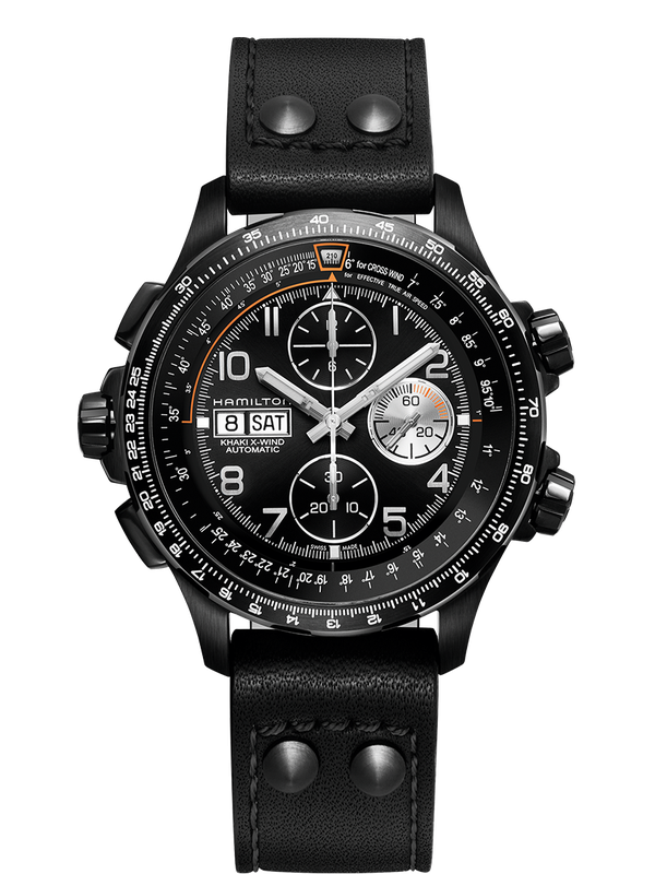 Khaki Aviation X-Wind Auto Chrono Black PVD