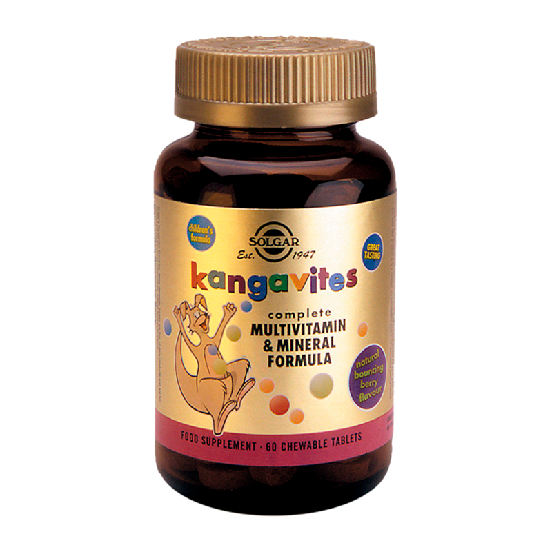 Kangavites Multivitamin & Mineral Formula Chewable Tabs (Berry &Tropical Flavour)