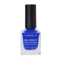KORRES NAIL COLOUR GEL EFFECT (WITH ALMOND OIL) No86 OCEAN BLUE 11ML