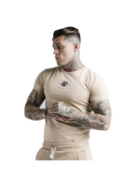 SikSilk Allure Straight Hem Gym Tee - Beige