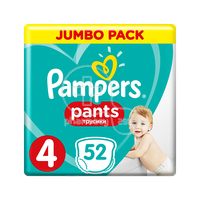 PAMPERS - JUMBO PACK Pants No4 (9-15kg) - 52 πάνες