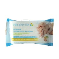 HELENVITA - PROTECT Antibacterial Wet Wipes - 15τεμ.