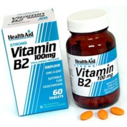 Health Aid Vitamin B2 Riboflavin One a Day Βιταμίνη Β2, 60 tabs