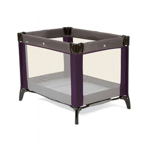 Classic Travel Cot - Plum/Grey