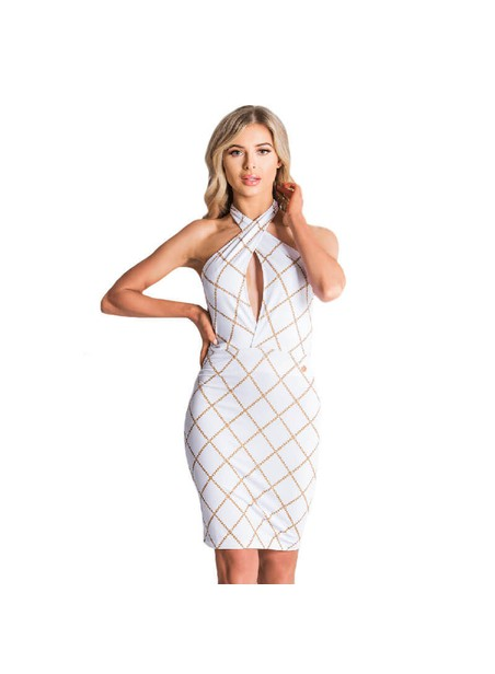 Gianni Kavanagh White Gold Chain Dress