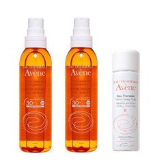 Avene Πακέτο Huile Solaire Αντηλιακό Λάδι SPF30, 2x200ml + Δώρο Avene Eau Thermale Spring Water 50ml