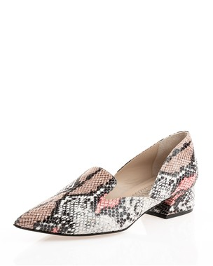 Μοκασίνι pointy snake print - absolute Bournazos
