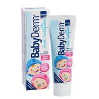 BABYDERM FIRST TOOTHPASTE FLUORIDE FREE 50ML (ΓΕΥΣΗ ΤΣΙΧΛΟΦΟΥΣΚΑ)