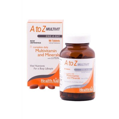 Health aid multivitamins a to z lutein