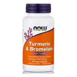 Now Turmeric & Bromelain 300/150 mg, 90 vcaps