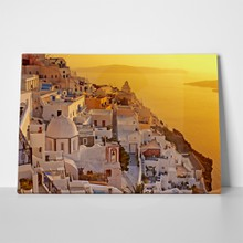 Amazing sunset oia village santorini island 89179030 a