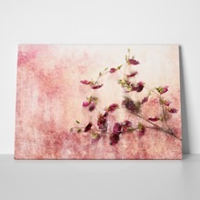 Twig of flowers on grunge background