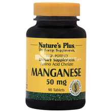 Nature's Plus MANGANESE 50mg - Μαγγάνιο, 90 tabs