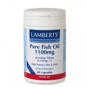 Lamberts pure fish oil 1100mg 60caps 600x600