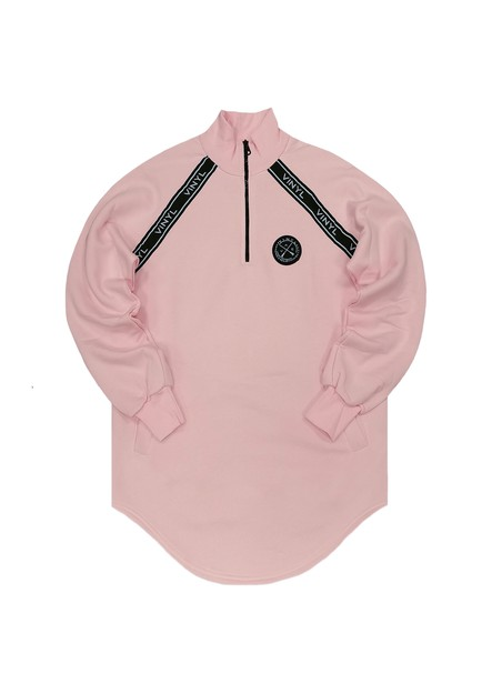 VINYL ART CLOTHING SWEATSHIRT WITH CHEST TAPING PINK