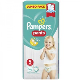 Pampers Jumbo Pack Active Pants No 5 Extra Large (12-17kg+) 48τμχ