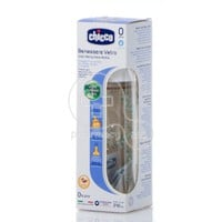 CHICCO - NATURE GLASS Μπιμπερό ΘΚ 0m+ - 240ml Cod. 20720-30