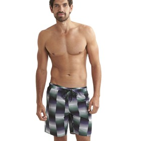 "Printed Check Leisure 18"" Watershort Print 8  Βερμ. Εισ.Ανδρ"