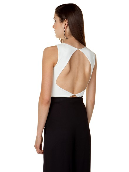 Bodysuit with open back