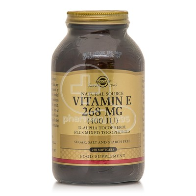 SOLGAR - Vitamin E 400IU - 250softgels