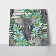 Watercolor painting pattern elephant 494572729 a