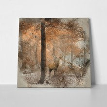 Deer in forest watercolor 602773331 a