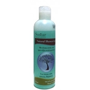 Sostar natural shower gel 250ml