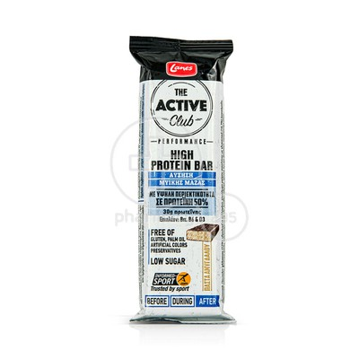 LANES - THE ACTIVE CLUB Hight Protein Bar (Πάστα Αμυγδάλου) - 60gr