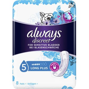 Always discreet discreet for sensitive bladder long plus 8pcs