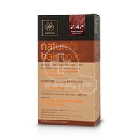 APIVITA - NATURE'S HAIR COLOR N7.47 Μπεζ Χάλκινο