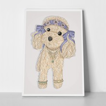 Cute hipster poodle dog 391751683 a