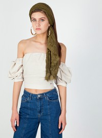 Off shoulder linen top
