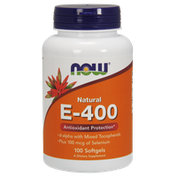 NOW E-400 IU WITH SELENIUM 100MCG  100 SOFTGELS